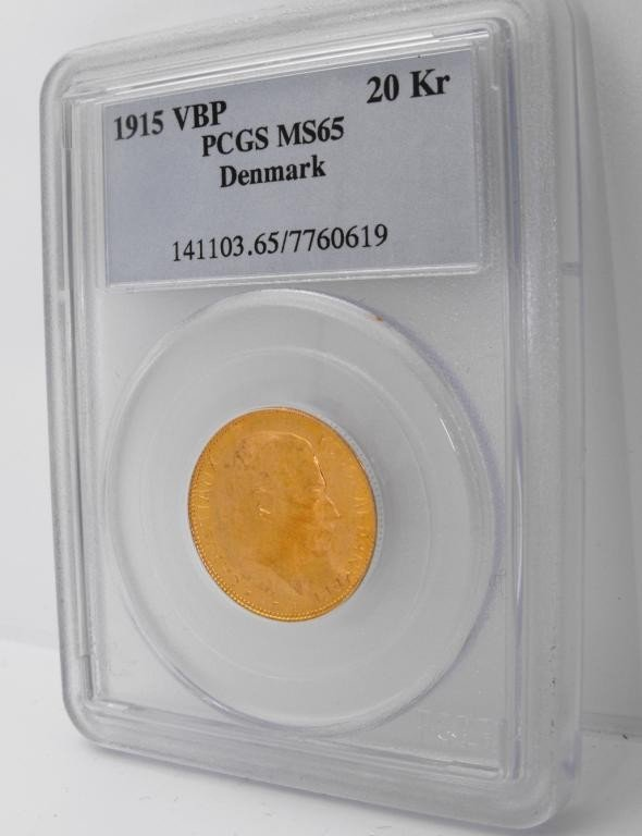 1T: 1915 VBP 20 Kroner PCGS MS 65