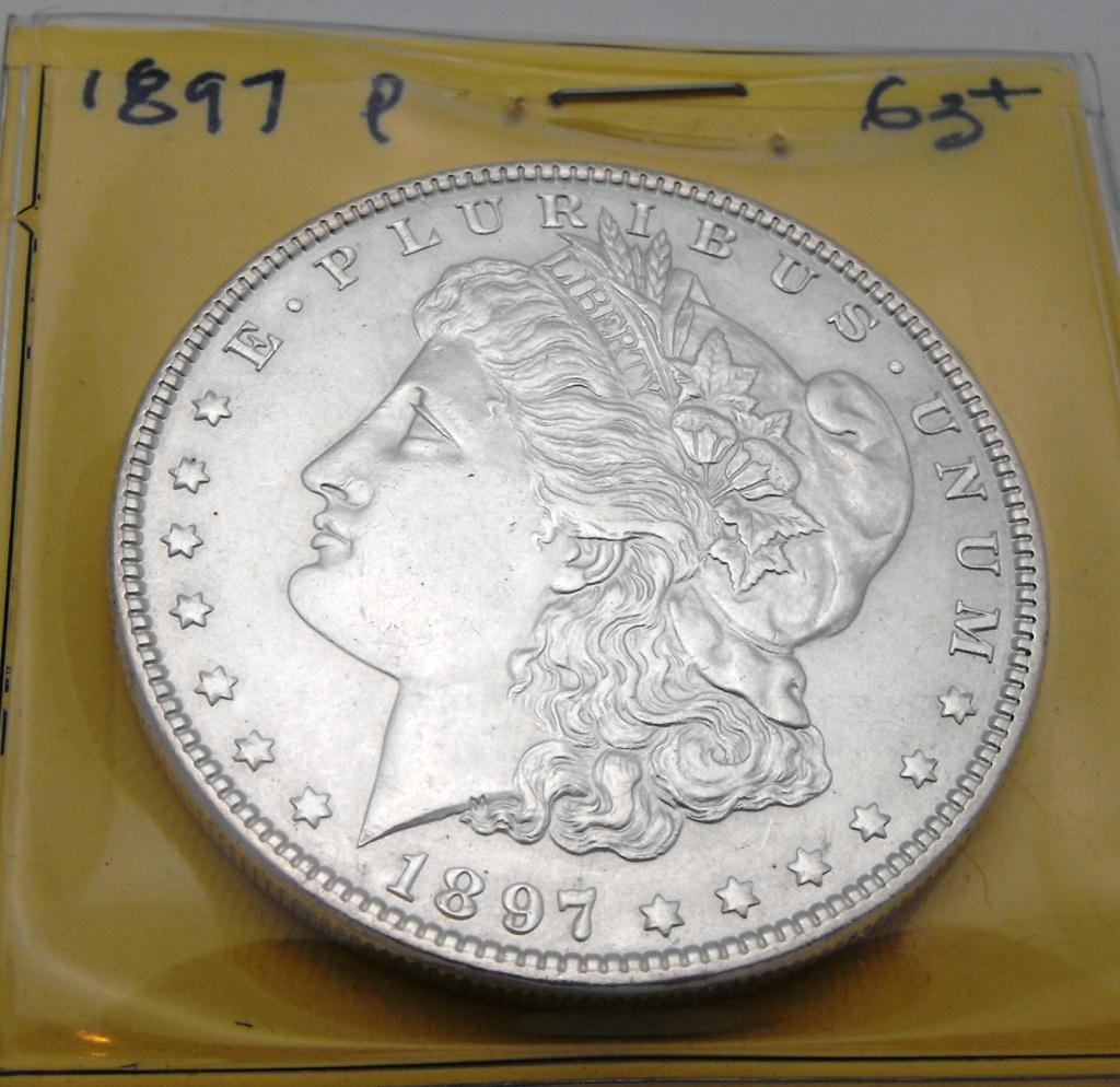 1E: 1897 P MS 63 PLUS Morgan