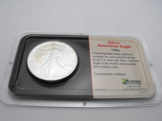 3A: 1986 US Mint Silver Eagle