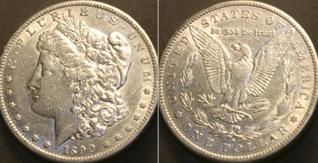 2B: JG 802- 1890-S BU Morgan Silver Dollar