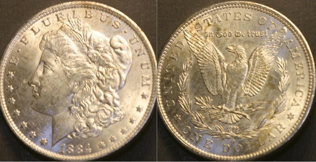 3B: JG 803- 1884-O PL Beautiful Morgan Silver Dollar