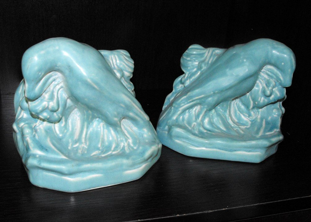 2B: Blue Super Fine Rookwood Book Ends