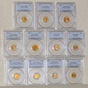 1A: 1903-1926 Complete Gold Commemorative Set MS64 PCGS
