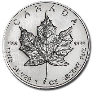 6N: 1 oz Silver Maple Leaf Bullion