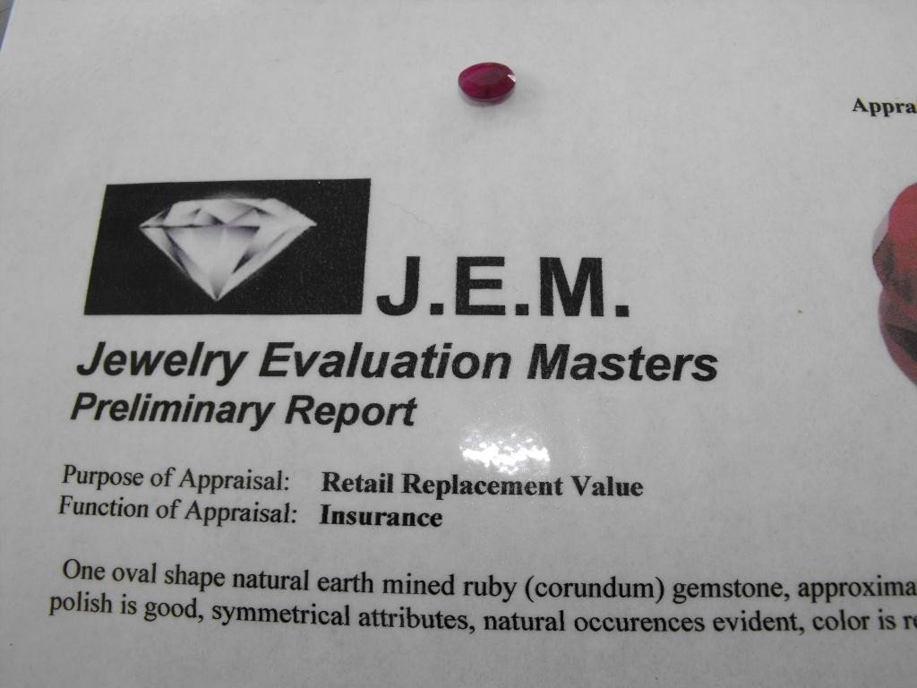 3Q: 1.5 ct. Earth Mined Ruby -$ 900 GG GIA