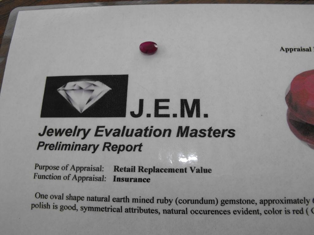 4Q: 1.5 ct. Ruby Earth Mined - $ 900 GG GIA