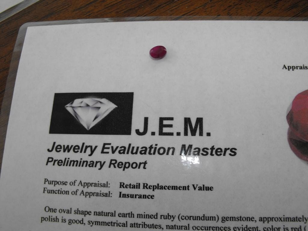 5Q: 1.5 ct. Earth Mined Ruby- $ 1000 GG GIA