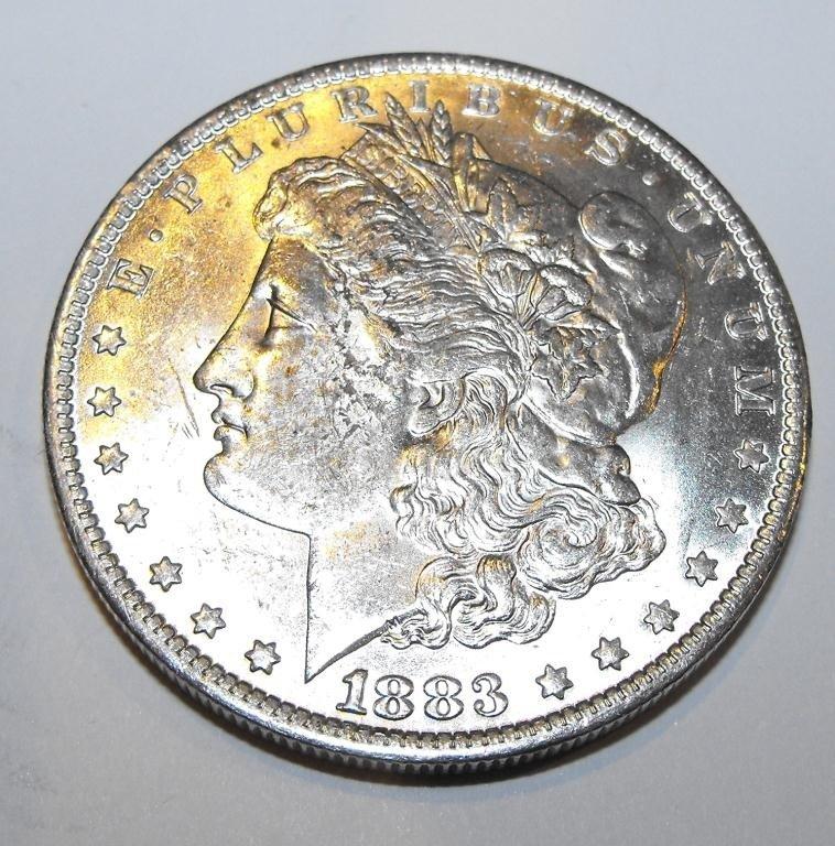 5T: 1883 O BU Morgan Silver Dollar