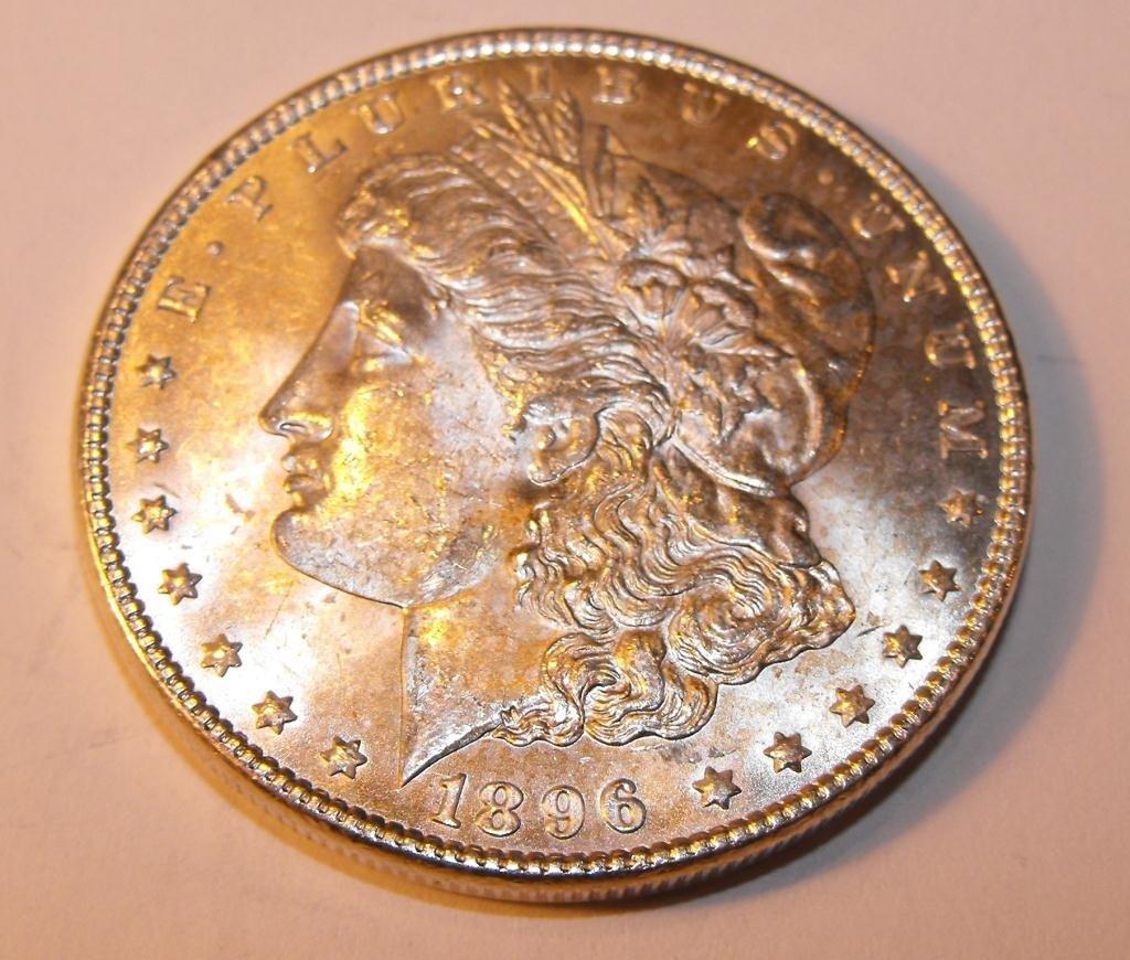 6T: 1896 P BU Morgan Silver Dollar