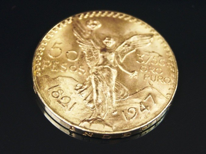 1S: Stunning Mexican 50 Peso Gold Coin