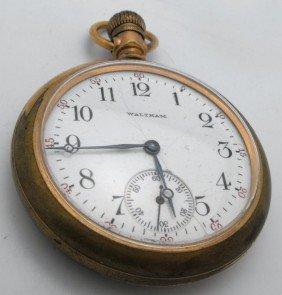 2P: Waltham 15 J Working Pocket Watch