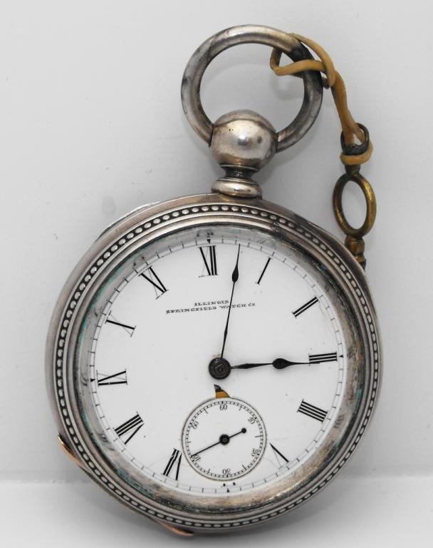 3P: Illinois Springfield Pocket Watch - Key Wind