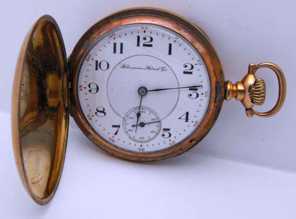 4P: Hampden Watch Co. 17 j - Working Pocket Watch