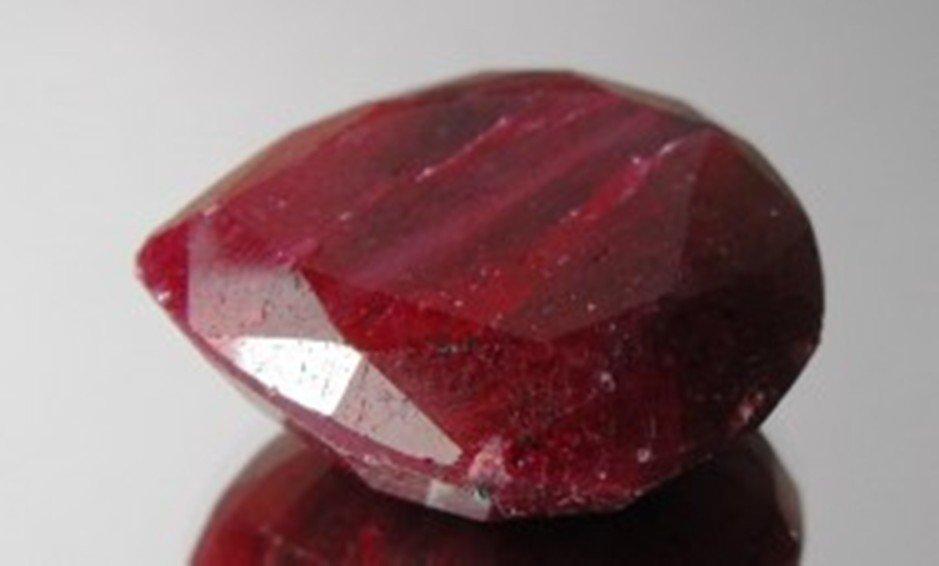 3A: 499.20 ct. Pear Ruby Gem $49,920 GG PR