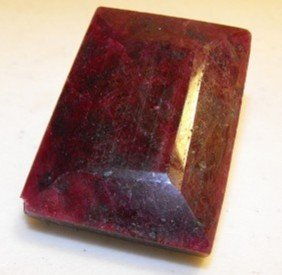 138.75 Ct. Sq. Ruby Gemstone $ 21,705 GG PR