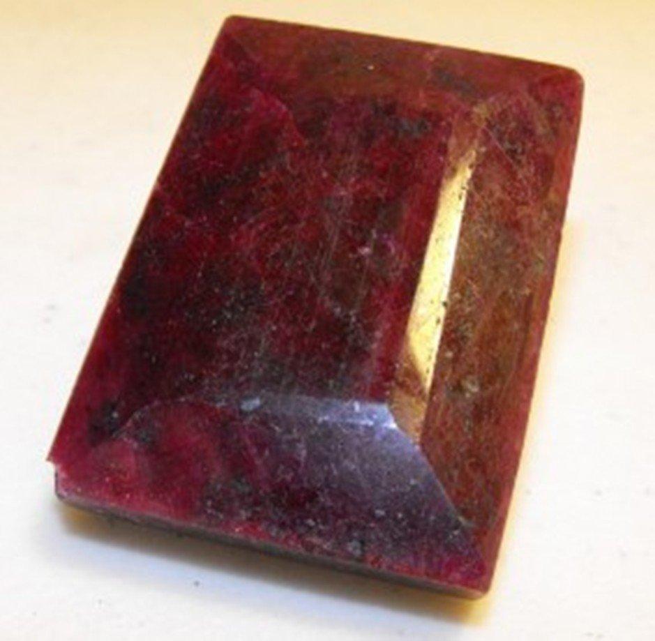4A: 138.75 ct. Sq. Ruby Gemstone $ 21,705 GG PR