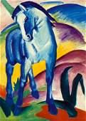 74P Blue Horse I  by Franz Marc Art print