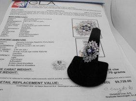 $9.7K Appraisal Sapphire Ladies Ring