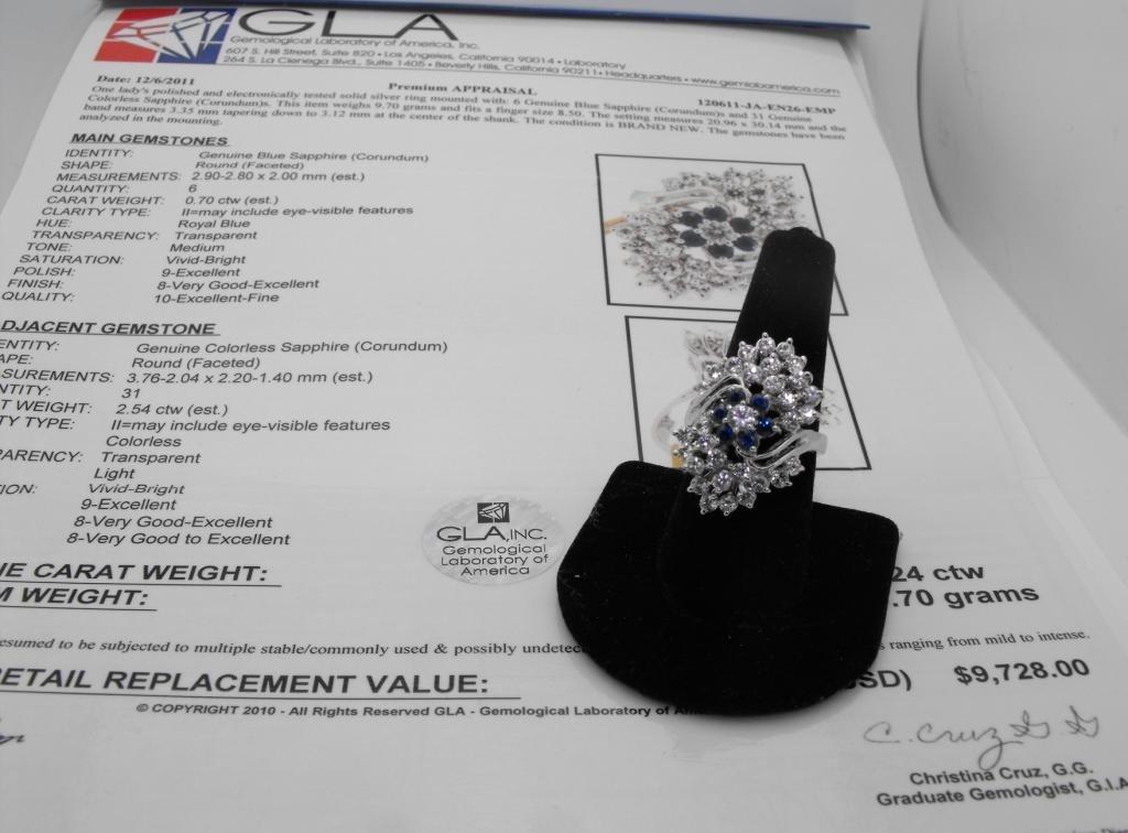 2M: $9.7K Appraisal Sapphire Ladies Ring