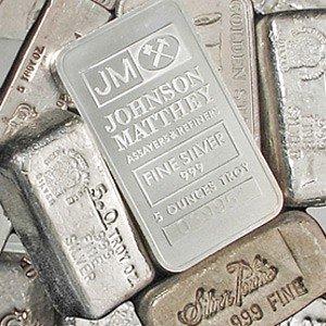 1F: A 5oz. Silver Bar-Mint Varies .999