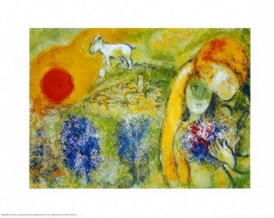 2T: Amoureux de Vence - Chagall - Print