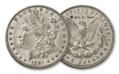 3S: 1881 o XF Morgan Silver Dollar