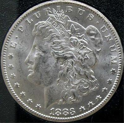 6S: 1883 O UNC Frosty Morgan