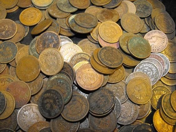 7S: (100) Indian Head Coins from Photo