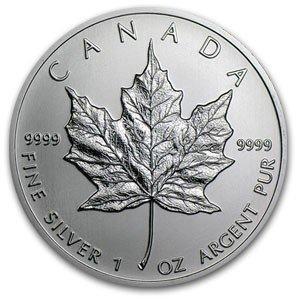 2C: A 1 oz. Silver Maple Leaf Bullion