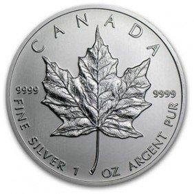 A 1 Oz. Silver Maple Leaf Bullion