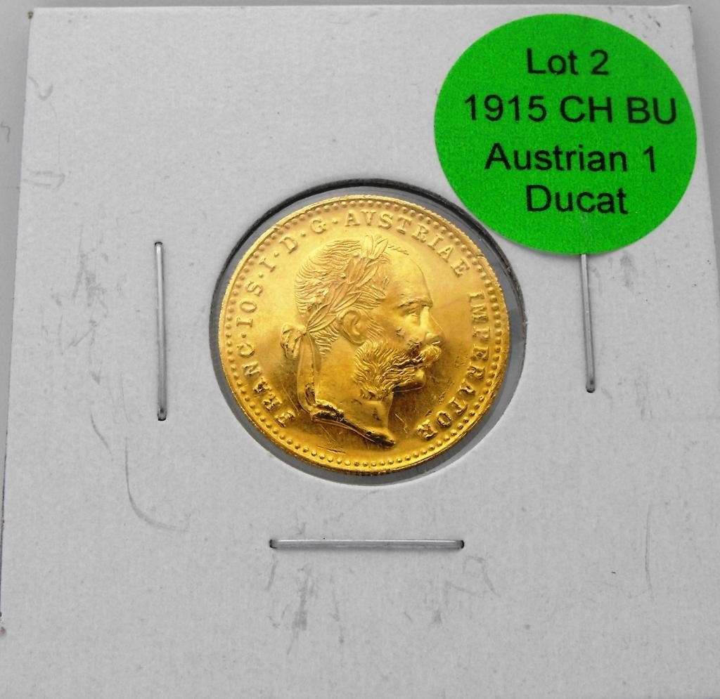 2: 1915 Choice BU Austrian 1 Ducat