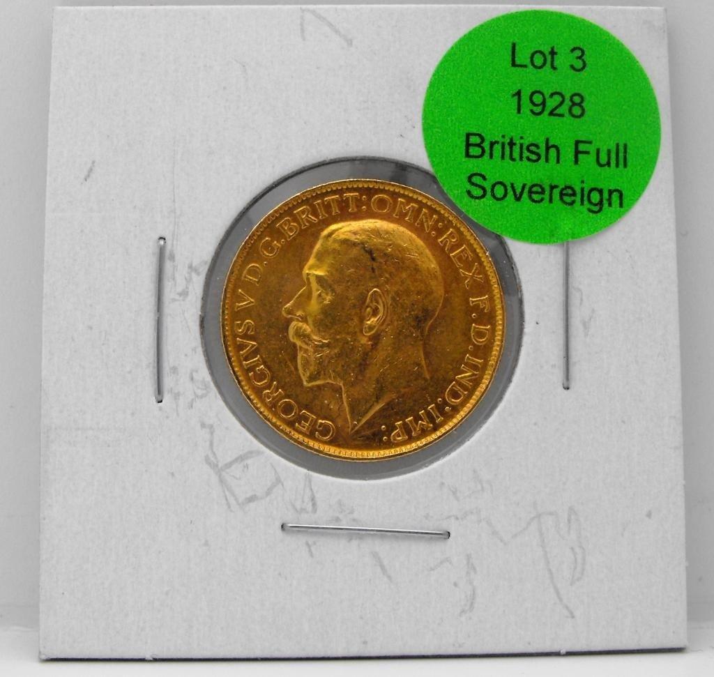 3: 1928 King George Full Sovereign