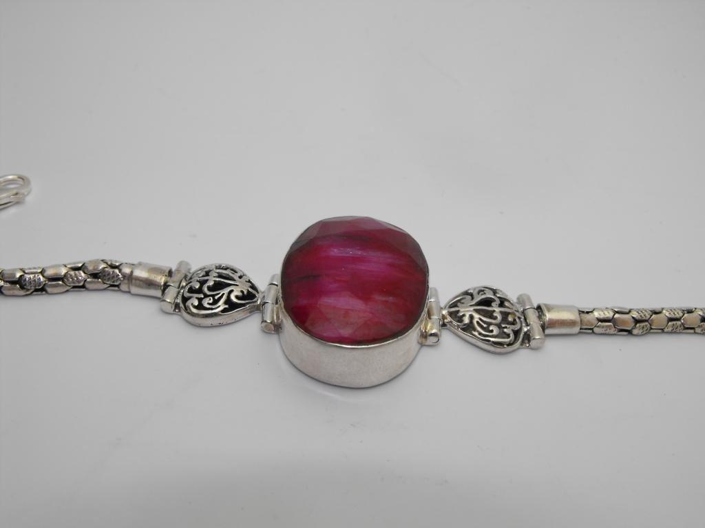 3Z: Fine 65 ct. Ruby & Sterling Bracelet