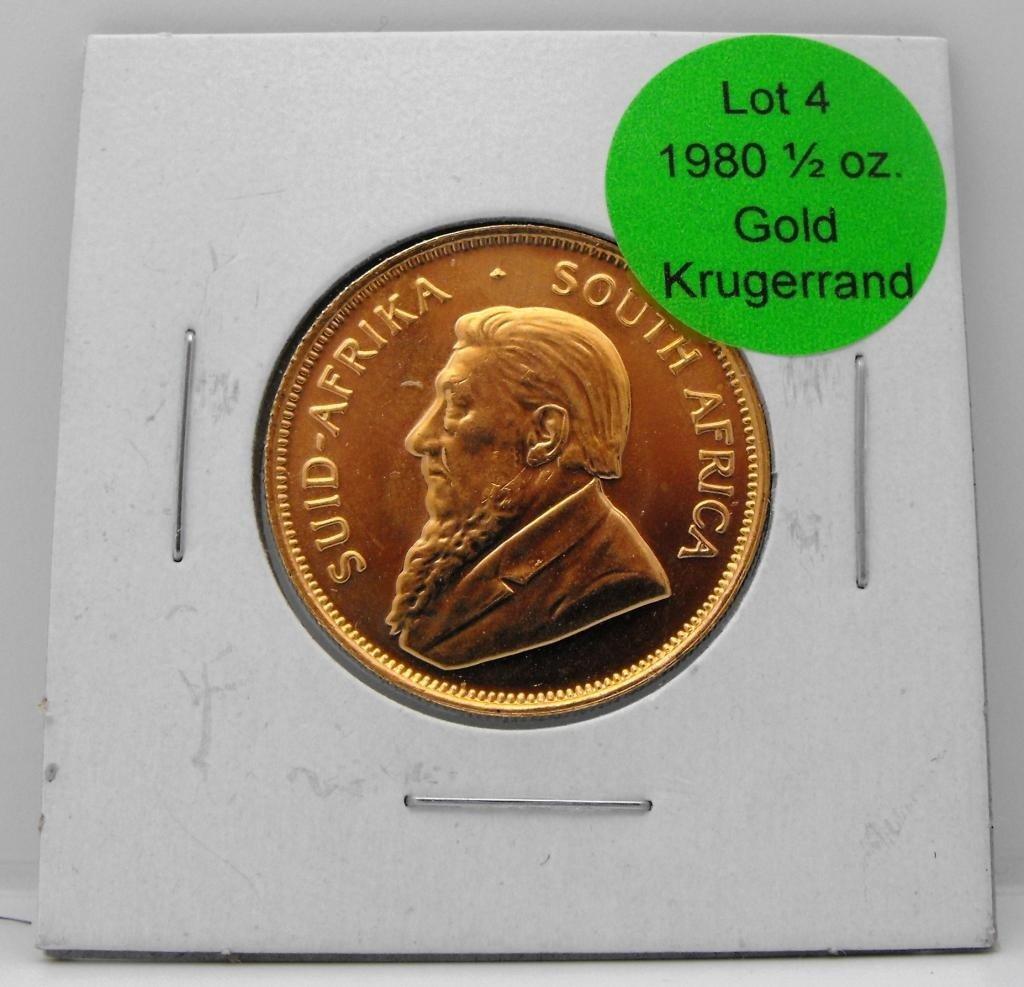 4: 1980 1/2 oz. Gold Krugerrand