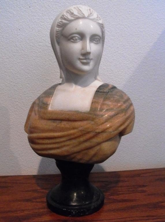 5Z: Hand Carved Cabinet Marble Bust