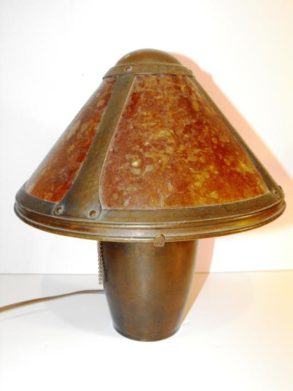 18Z: RARE AUTHENTIC DIRK VAN ERP Mica Shade Lamp