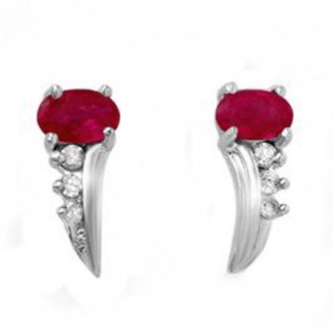18D: 0.72 ctw Ruby & Diamond Earrings