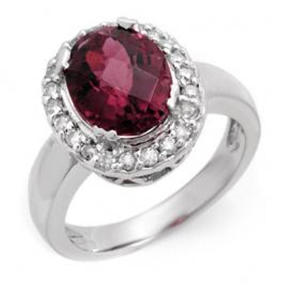 21D: 3.4ctw Pink Tourmaline & Diamond Ring