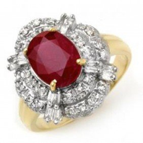 2.84 Ctw Ruby & Diamond Ring 14K