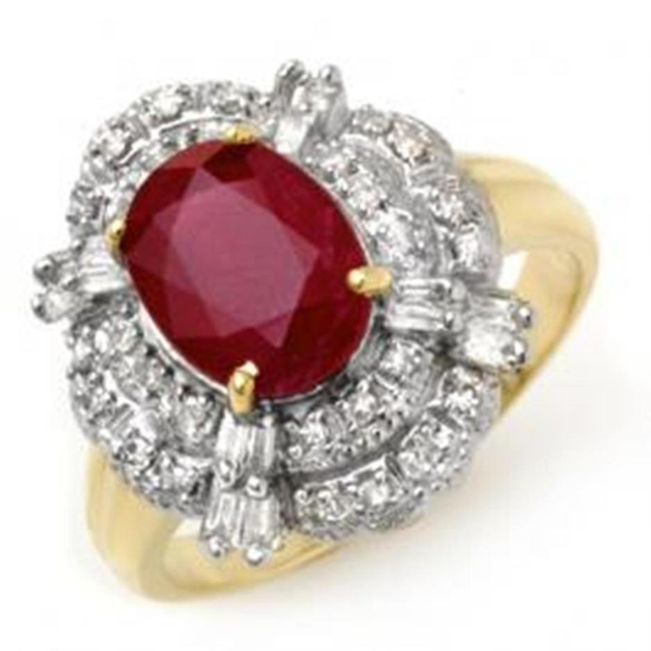 25D: 2.84 ctw Ruby & Diamond Ring 14K