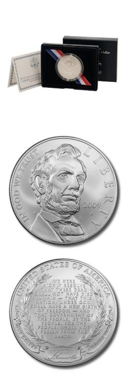 26S: 2009 Lincoln SIlver Proof in Box