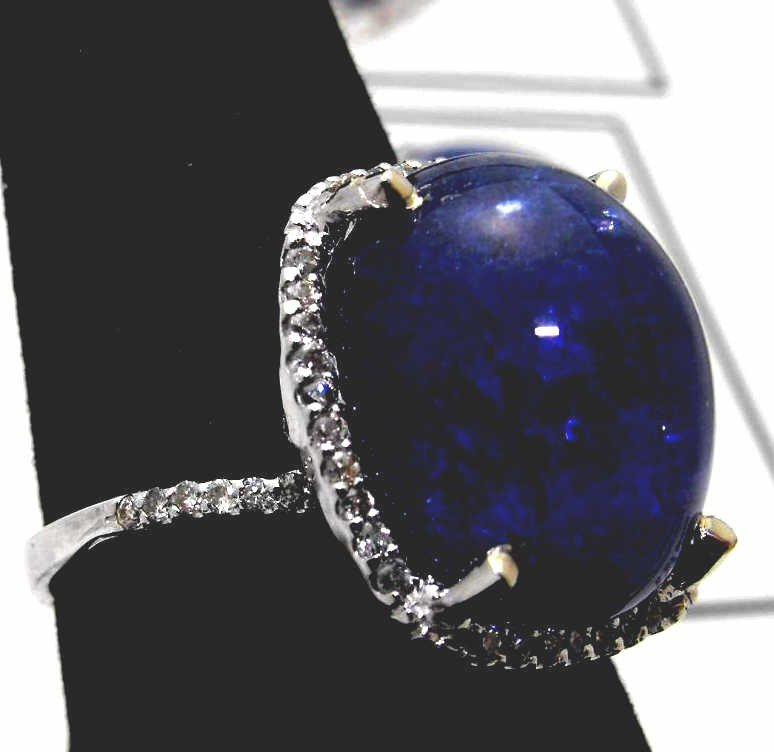 19M: $16,193 Appraised Cabachon Tanzanite Ring