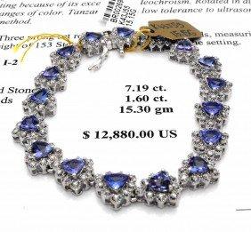 $12,880 Appraised Tanzanite Bracelet
