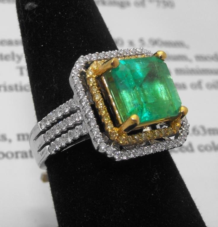 21M: $18,200 Appraised Emerald Ring 18k & 22k