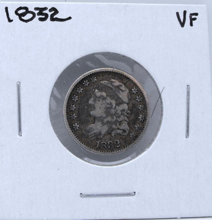1: 1832 VF Grade Bust Half Dime - 5 cents