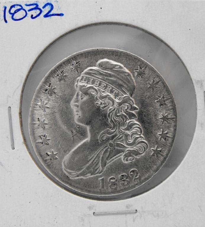 2: 1832 Bust Half Dollar - AU/BU Details