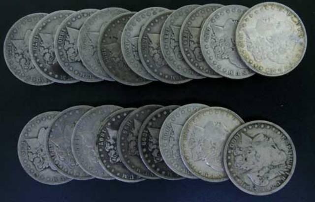 1L: JG-3- A  lot of 20 Assorted dtae morgan silver doll