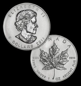 A 1oz. Silver Maple Leaf Bullion