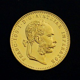 1915 1 Ducat Gold Uncirculated Coin