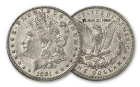 3S: 1881 o XF Morgan Silver Dollar